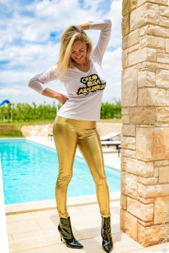 Vinyl leggings made by Christina