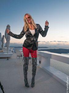 Christina in Santorini